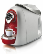 Кофемашина Caffitaly S04 Argento red/silver