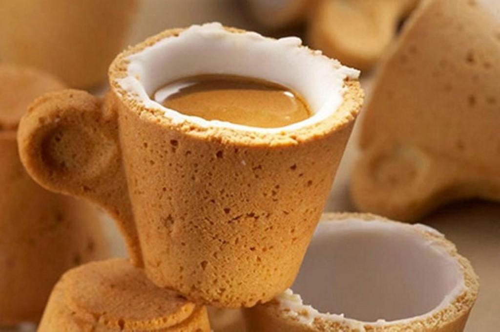 Съедобные стаканы для кофе своими руками